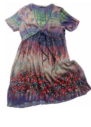 Красивая шелковая туника платье silver creek black label