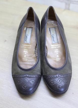 Фирменные туфли gabor (австрия) из натуральной кожи и замша