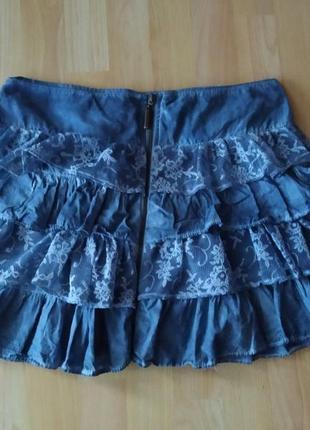 Лёгкая юбка под джинс