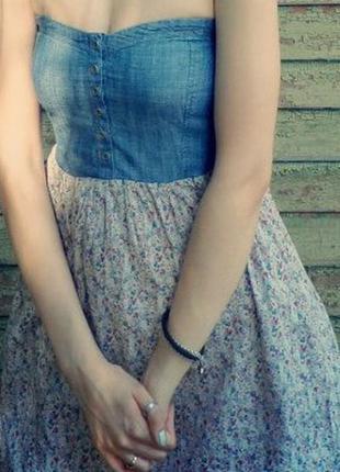 Винтажное платье, сарафан, в ретро стиле, платье без бретелек, мини платье, ретро