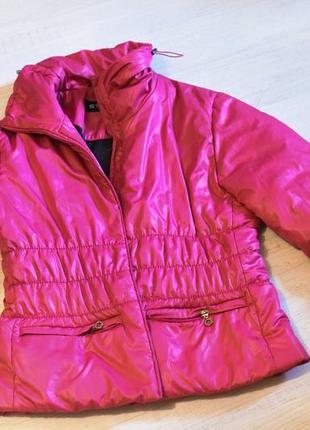 Розовая курточка  дутик теплая  /распродажа!