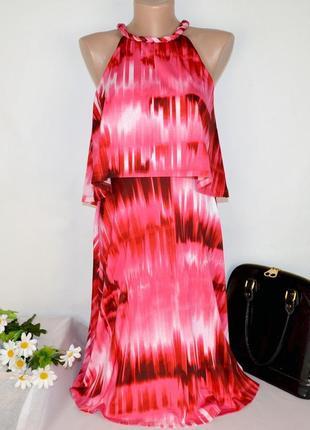 Брендовое розовое нарядное миди платье london times шри ланка этикетка