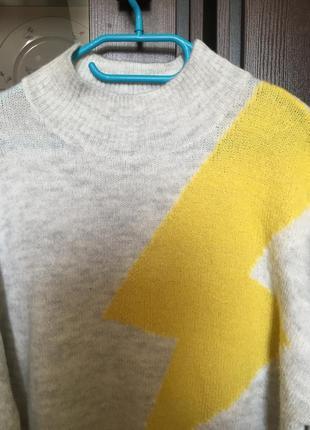 Тёплый свитер с молнией zara