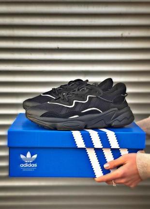 Шикарные мужские кроссовки adidas ozweego black