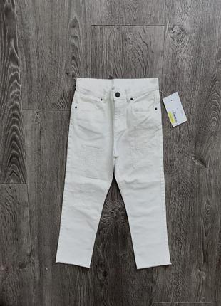 Супер джинсы в стиле мом 7-9 лет. h&m швеция 🇸🇪