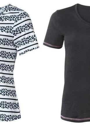 Комплект из двух штук!функциональная женская футболка crivit. размер l, евро 44-46