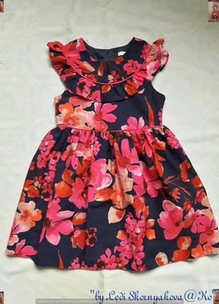 Новое фирменное george красочное платье в цветочный принт на принцесу 5-6 лет