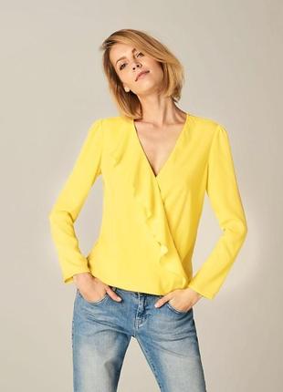Весенняя блуза,легкая рубашка,кофточка,воланы,рюши,волны,желтый,2020,весна,лето