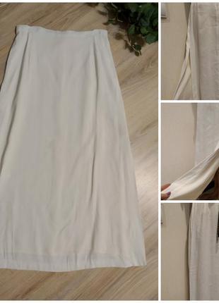 Базовая стильная юбка макси трапеция с разрезом