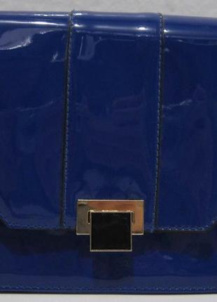 Женский лаковый клатч (синий) 16-06-001