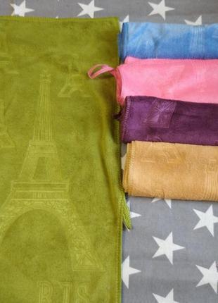 Набор кухонных полотенец из 5шт разных цветов, микрофибра 25*50.