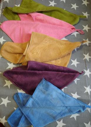 Набор кухонных полотенец из 10шт разных цветов, микрофибра 25*50.
