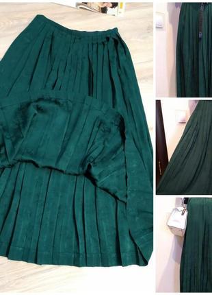 Тонкая лёгкая юбка плиссеровка  макси