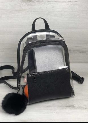 Стильный прозрачный рюкзак