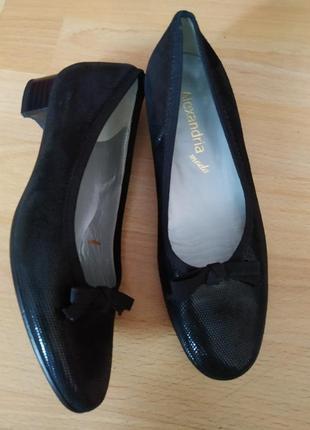 36 р. кожаные туфли лодочки балетки от vero moda alexandia mi