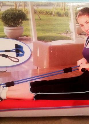 Набор эспандер и резинка для фитнеса1 фото