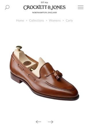 Туфлі лофери crockett&jones англія