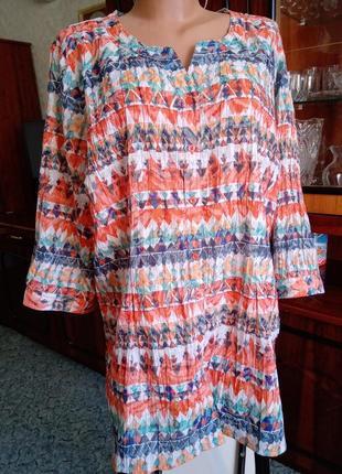 Туника рубашка блуза на пог=70