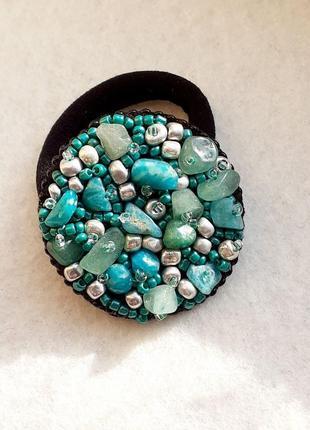 Резинка для волос с натуральными камнями