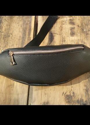 Новая стильная качественная бананка экокожа, сумка на пояс/через плечо / клатч / кроссбоди
