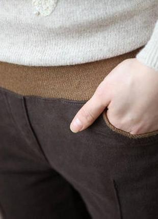 #розвантажуюсь коричневые шоколадные укороченные штаны леггинсы лосины со стрелками