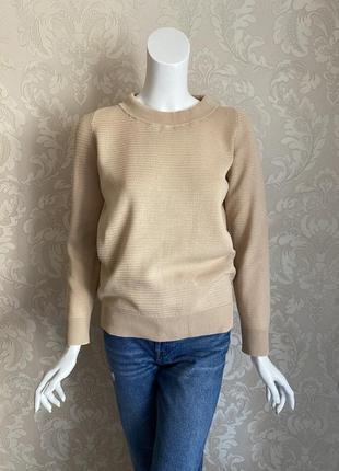 Maison martin margiela оригинал дизайнерский бежевый женский свитер