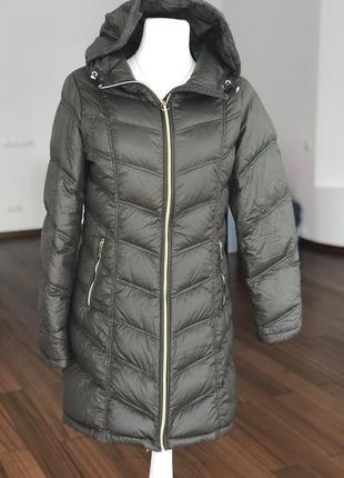 Ультралегкое пуховое пальто дорого бренда calvin klein
