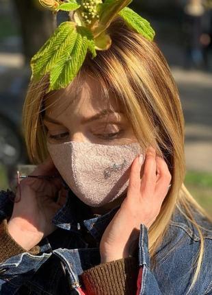 Тканевая маска для лица защитная
