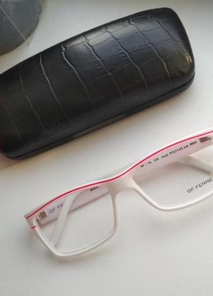 Белая стильная оправа под линзы, имиджевые очки ferre ff 211-03 оригинал