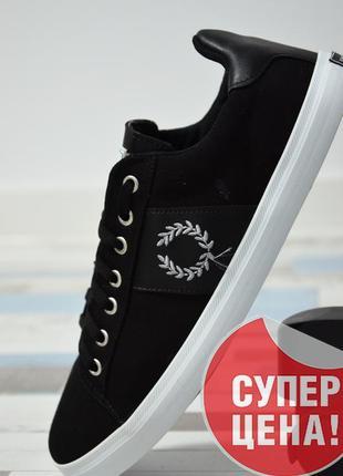 Кеды fred perry (фред перри) на шнуровке с логотипом