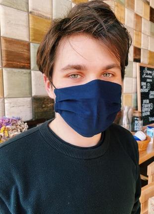 Маска защитная хлопкова. защитная маска для лица многоразовая трехслойная