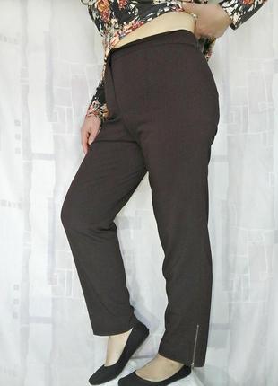 Шоколадные брюки с молниями внизу
