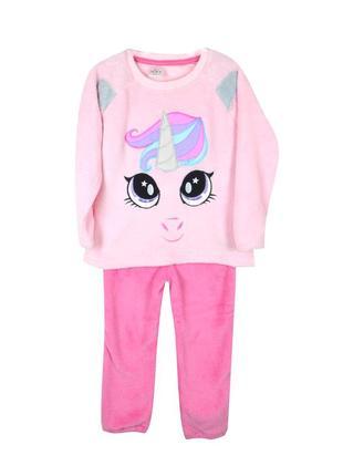 Пижама плюшевая піжама кофта + штани штаны в коробке коробці единорог єдиноріг