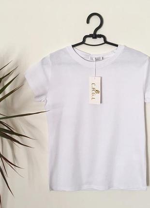 Новая качественнвя базовая котоновая футболка белая