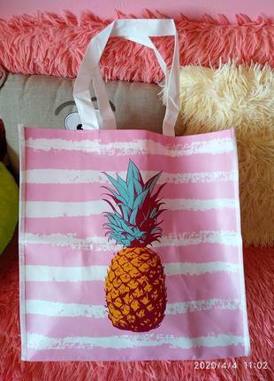 Эко-сумка/шоппер в принт ананаса🍍
