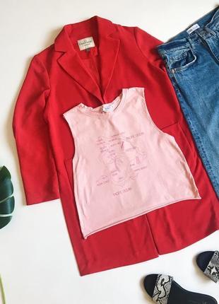 Стильный розовый топ футболки без рукавов от pull&bear