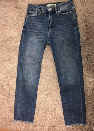 Mom moto topshop джинсы