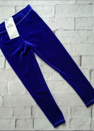Велюровые штаны м&s 4-5 лет цвет электрик