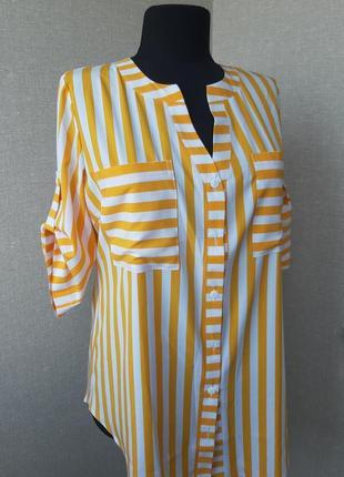Новая рубашка в полоску, туника,блузка, футболка, большой размер