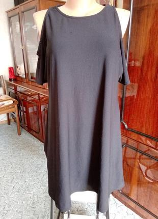 🎁маленькое чёрное платье пог=52