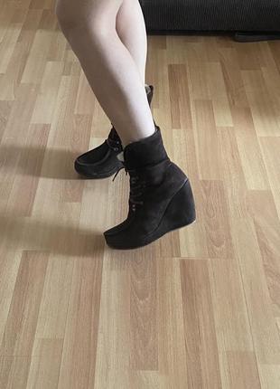 Ботинки тёплые/ сникерсы