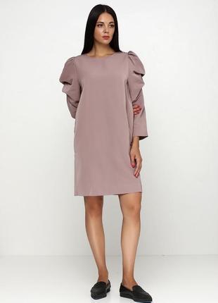 Платье cos с объемными рукавами
