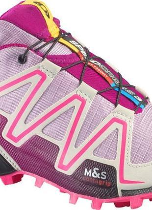 Женские туристические кроссовки salomon speedcross 3 gore-tex10 фото