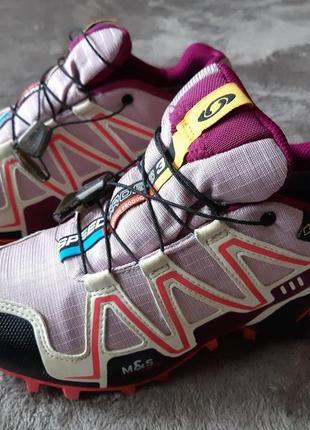 Женские туристические кроссовки salomon speedcross 3 gore-tex3 фото