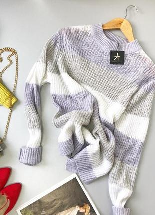 Свободный свитер нежной расцветки в полоску atmosphere atmosphere