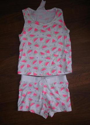 Фирменный летний костюм девочке 4-5 лет