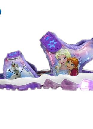 Led сандалии удобные стильные сандали босоножки frozen холодное сердце 24р.
