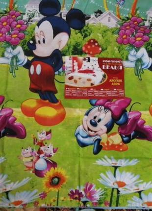 Комплект детского постельного  белья полуторный, 150*210 в наличии расцветки.