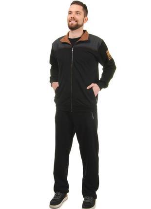 Мужской демисезонный повседневный костюм спортивного стиля из трикотажа и джинса (2023)