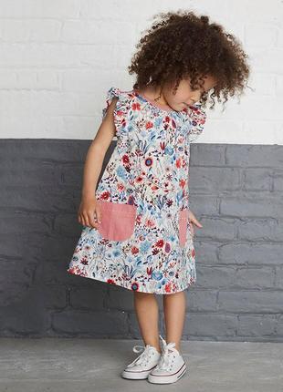 Легкое, красивое платье некст 3-4 года